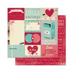 Bo Bunny - Love Letters Collection - 12 x 12 Double Sided Paper - Journal
