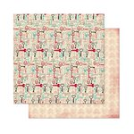 Bo Bunny - Love Letters Collection - 12 x 12 Double Sided Paper - Keys