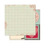 Bo Bunny - Love Letters Collection - 12 x 12 Double Sided Paper - Tiles