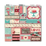 Bo Bunny - Love Letters Collection - 12 x 12 Cardstock Stickers - Combo