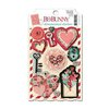 Bo Bunny - Love Letters Collection - Dimensional Stickers with Glitter and Jewel Accents