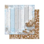 Bo Bunny - Powder Mountain Collection - 12 x 12 Double Sided Paper - Home