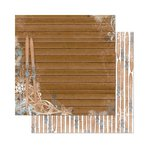 Bo Bunny - Powder Mountain Collection - 12 x 12 Double Sided Paper - Lodge