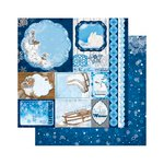 Bo Bunny - Powder Mountain Collection - 12 x 12 Double Sided Paper - Memories