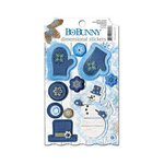 Bo Bunny - Powder Mountain Collection - Dimensional Stickers with Glitter and Jewel Accents