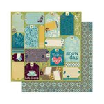 Bo Bunny - Snow Day Collection - 12 x 12 Double Sided Paper - Cards