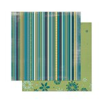 Bo Bunny - Snow Day Collection - 12 x 12 Double Sided Paper - Stripe
