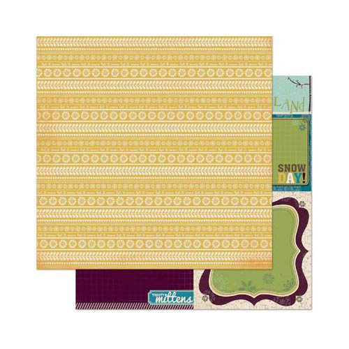 Bo Bunny Press - Snow Day Collection - 12 x 12 Double Sided Paper - Sunshine