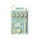 Bo Bunny - Snow Day Collection - Layered Chipboard Stickers with Glitter and Jewel Accents