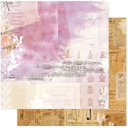 Bo Bunny - C'est la Vie Collection - 12 x 12 Double Sided Paper - Belle