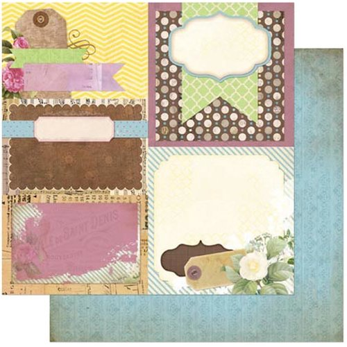 Bo Bunny - C'est la Vie Collection - 12 x 12 Double Sided Paper - Decoupage
