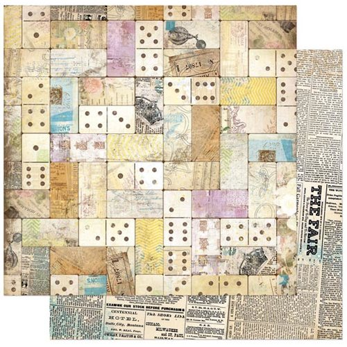 Bo Bunny - C'est la Vie Collection - 12 x 12 Double Sided Paper - Domino