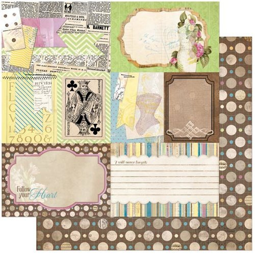 Bo Bunny - C'est la Vie Collection - 12 x 12 Double Sided Paper - Ephemera