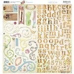 Bo Bunny - C'est la Vie Collection - 12 x 12 Chipboard Stickers