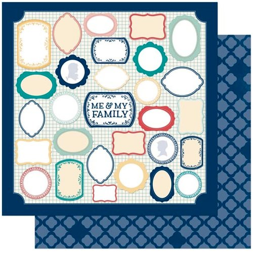 Bo Bunny - Family Is Collection - 12 x 12 Double Sided Paper - Me and Mine