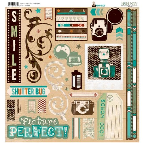 Bo Bunny - Mama-razzi 2 Collection - 12 x 12 Chipboard Stickers