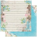 Bo Bunny - Prairie Chic Collection - 12 x 12 Double Sided Paper - Prairie Chic