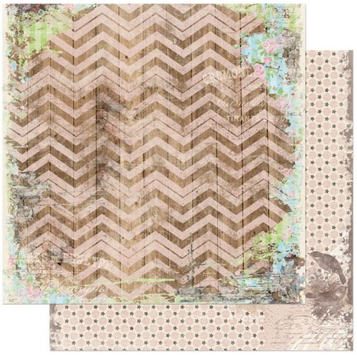 Bo Bunny - Prairie Chic Collection - 12 x 12 Double Sided Paper - Chevron