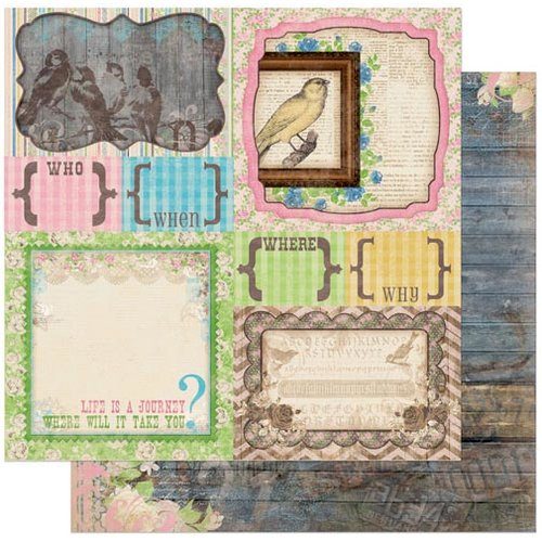 Bo Bunny - Prairie Chic Collection - 12 x 12 Double Sided Paper - Yard Sale