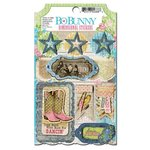 Bo Bunny Press - Prairie Chic Collection - 3 Dimensional Stickers with Glitter and Jewel Accents