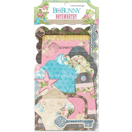Bo Bunny - Prairie Chic Collection - Noteworthy Journaling Cards