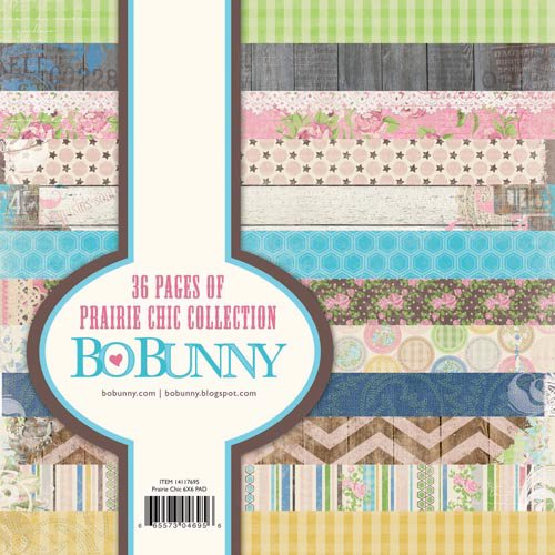 Bo Bunny - Prairie Chic Collection - 6 x 6 Paper Pad