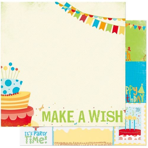 Bo Bunny - Surprise Collection - 12 x 12 Double Sided Paper - Cake