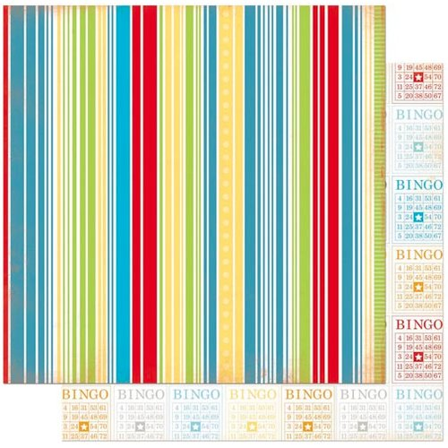 Bo Bunny - Surprise Collection - 12 x 12 Double Sided Paper - Stripe