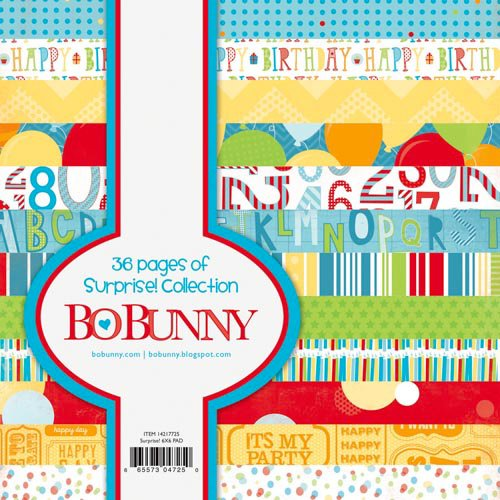 Bo Bunny - Surprise Collection - 6 x 6 Paper Pad