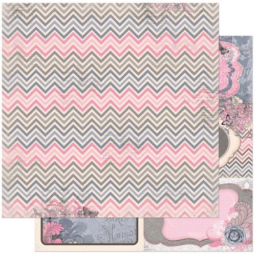 Bo Bunny - Isabella Collection - 12 x 12 Double Sided Paper - Delicate