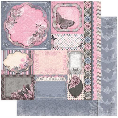 Bo Bunny - Isabella Collection - 12 x 12 Double Sided Paper - Style