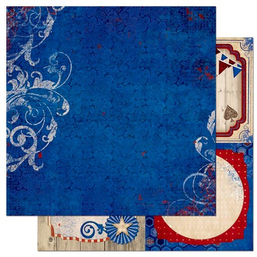 Bo Bunny - Anthem Collection - 12 x 12 Double Sided Paper - Sovereign