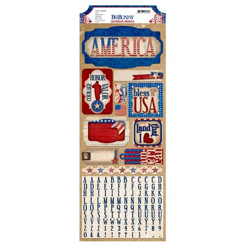 Bo Bunny - Anthem Collection - Cardstock Stickers - USA