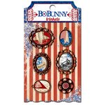 Bo Bunny - Anthem Collection - Metal Embellishments - Trinkets