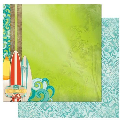Bo Bunny - Key Lime Collection - 12 x 12 Double Sided Paper - Key Lime