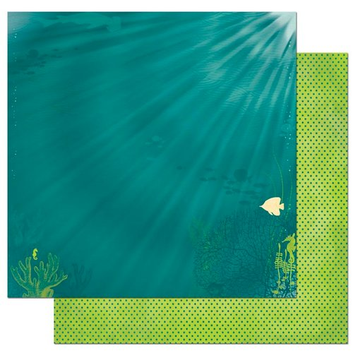 Bo Bunny - Key Lime Collection - 12 x 12 Double Sided Paper - Deep Blue Sea