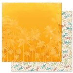 Bo Bunny - Key Lime Collection - 12 x 12 Double Sided Paper - Heat Wave