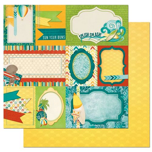 Bo Bunny - Key Lime Collection - 12 x 12 Double Sided Paper - Notes