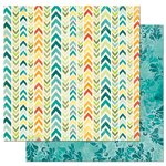 Bo Bunny - Key Lime Collection - 12 x 12 Double Sided Paper - Makin' Waves