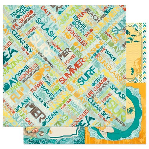 Bo Bunny - Key Lime Collection - 12 x 12 Double Sided Paper - Summer Daze