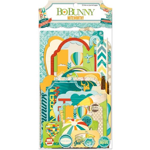 Bo Bunny - Key Lime Collection - Note Worthy Journaling Cards