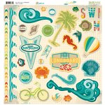 Bo Bunny - Key Lime Collection - 12 x 12 Chipboard Stickers