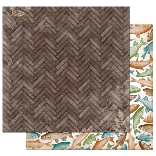Bo Bunny - Trail Mix Collection - 12 x 12 Double Sided Paper - Lakeside Retreat