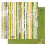 Bo Bunny - Trail Mix Collection - 12 x 12 Double Sided Paper - Stripe