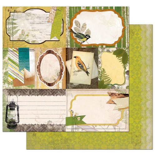 Bo Bunny - Trail Mix Collection - 12 x 12 Double Sided Paper - Woodland Picnic
