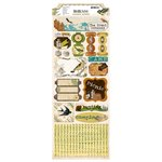 Bo Bunny - Trail Mix Collection - Cardstock Stickers - Camping