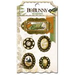Bo Bunny - Trail Mix Collection - Metal Embellishments - Trinkets