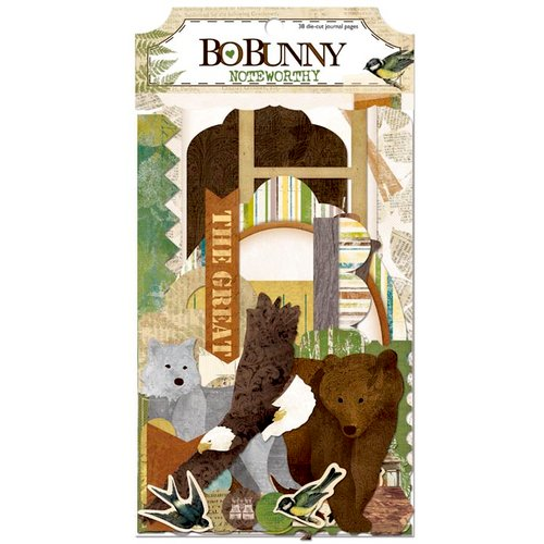 Bo Bunny - Trail Mix Collection - Note Worthy Journaling Cards