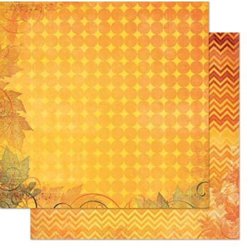 Bo Bunny - Autumn Song Collection - 12 x 12 Double Sided Paper - Dot