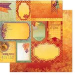 Bo Bunny - Autumn Song Collection - 12 x 12 Double Sided Paper - Notes